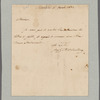 Bonaparte, Joseph. Philadelphia. To William Bayard, Jr