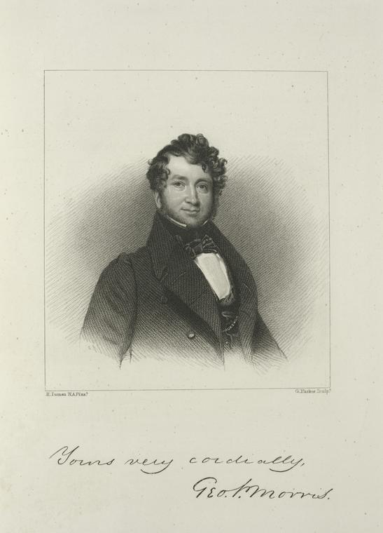 This is What George Pope Morris Looked Like  in 1826