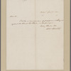 Binney, Horace. Philadelphia. To Thomas Dunlap