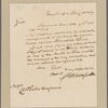 Bloomfield, Brigadier General Joseph. Washington. To Chrst. Peter Wersman