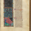 Three miniatures of plagues. With text, initials, linefillers fol. 42r