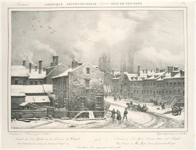 No. 3. Interior of New-York, Provost Street and chapel.