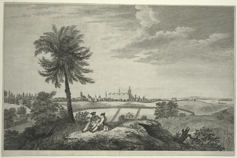 [A south east view of the city of New York, in North America = Vue du sud est de la ville de New York, dans l'Amérique septentrionale.]