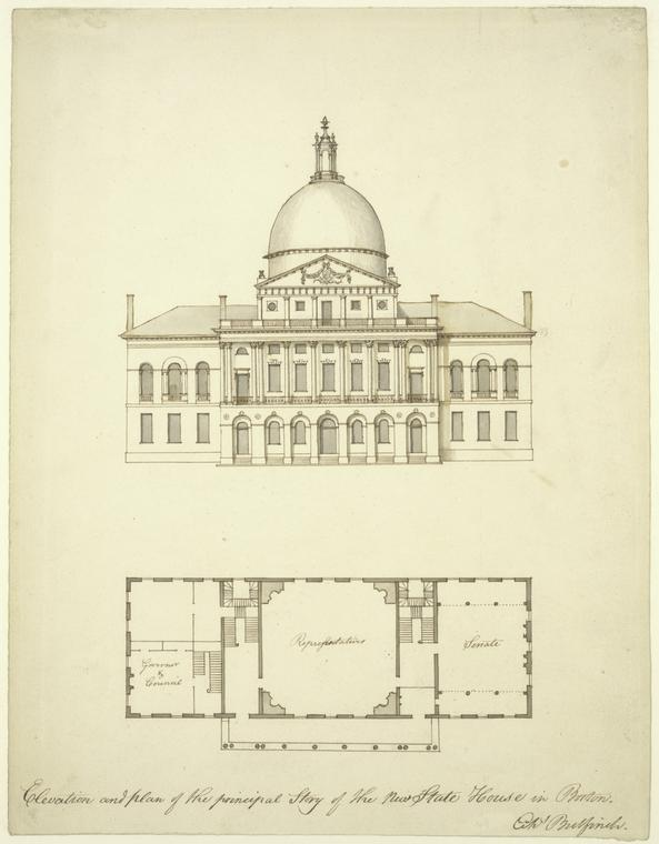 Fascinating Historical Picture of Massachusetts State House in 1787