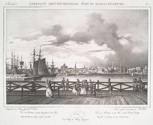 No. 42. View of Boston and the South Boston Bridge.