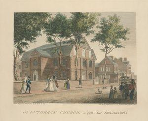 Old Lutheran Church, in Fifth Street Philadelphia.