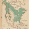 Map showing the position of the forest, prairie & treeless regions of North America exclusive of Mexico