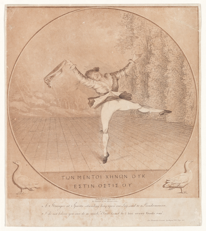 Fascinating Historical Picture of George Dance on 4/2/1781