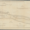 Map of the Hudson River near Albany shewing the location of the proposed bridge: also cross sections at several places above and below the same