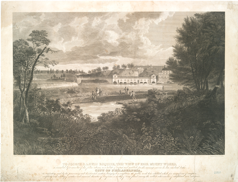 To Joseph S. Lewis Esquire, this view of Fair Mount Works....