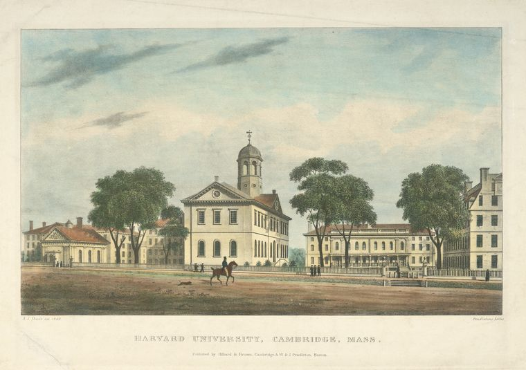 Fascinating Historical Picture of Harvard University in 1828