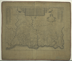 A mapp of ye improved part of Pensilvania in America, divided into countyes, townships and lotts.