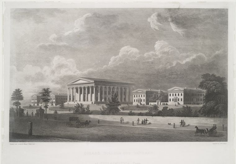 Fascinating Historical Picture of Girard College in 1835