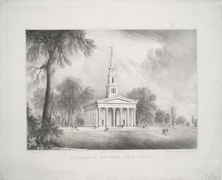 This is What St. Marks United Methodist Church Looked Like  in 1838