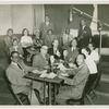 Participants in a Club Cubano Inter-Americano radio recording at Fordham University