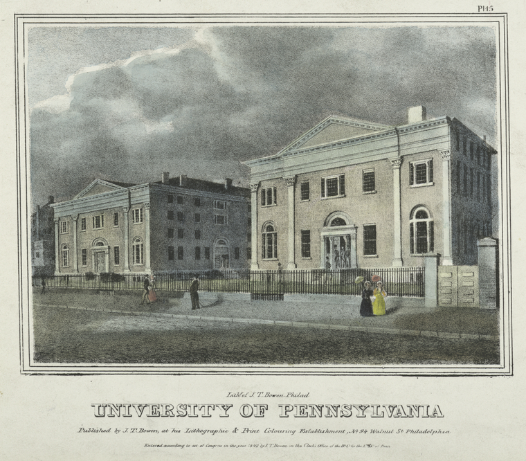 Fascinating Historical Picture of University of Pennsylvania in 1842