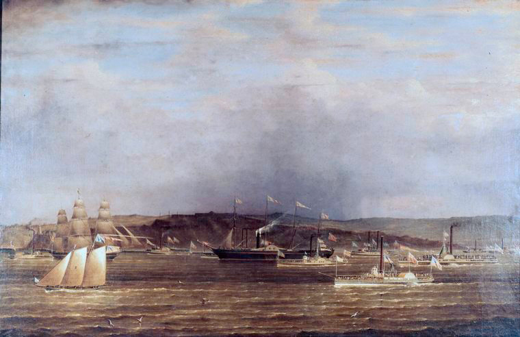 The arrival of the Great Western at New York, April 23, 1838.