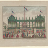 Ici l'on danse: vue de la décoration et Illumination faite sur le terrein de la Bastille pour le jour de la fête de la Confédération française le 14 Juillet 1790