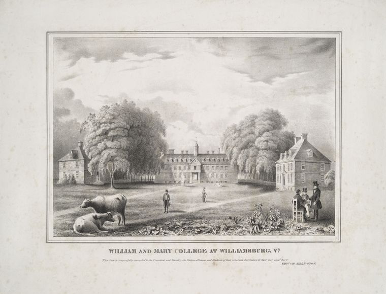 Fascinating Historical Picture of College of William and Mary in 1840