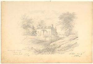 Washington Irving's house at Hell Gate N.Y.