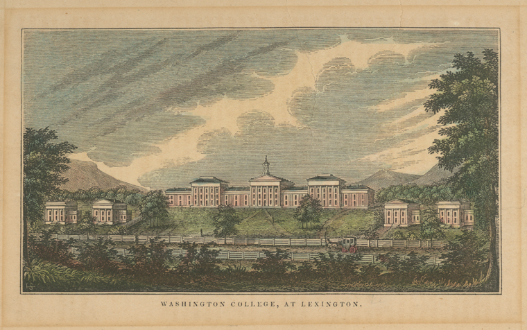 Fascinating Historical Picture of Washington College in 1845