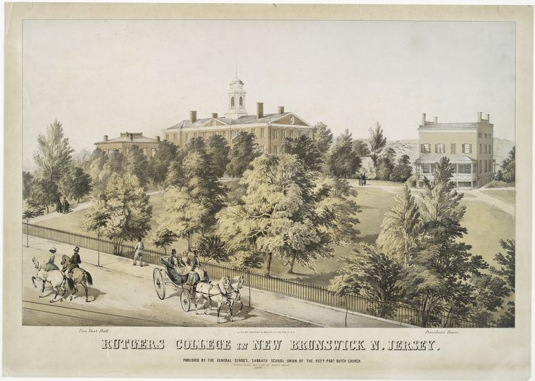 Fascinating Historical Picture of Rutgers College in 1849