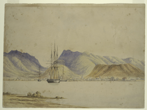 [View of Honolulu Harbor.]
