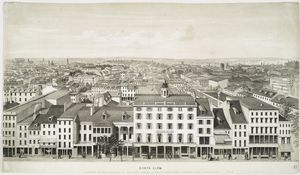 [Panoramic views of Philadelphia, from the State House.]  North view, looking across Chestnut St. towards Spring Garden, Northern Liberties and Kensington.