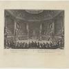 La salle du bal donné dans le petit parc de Versailles
