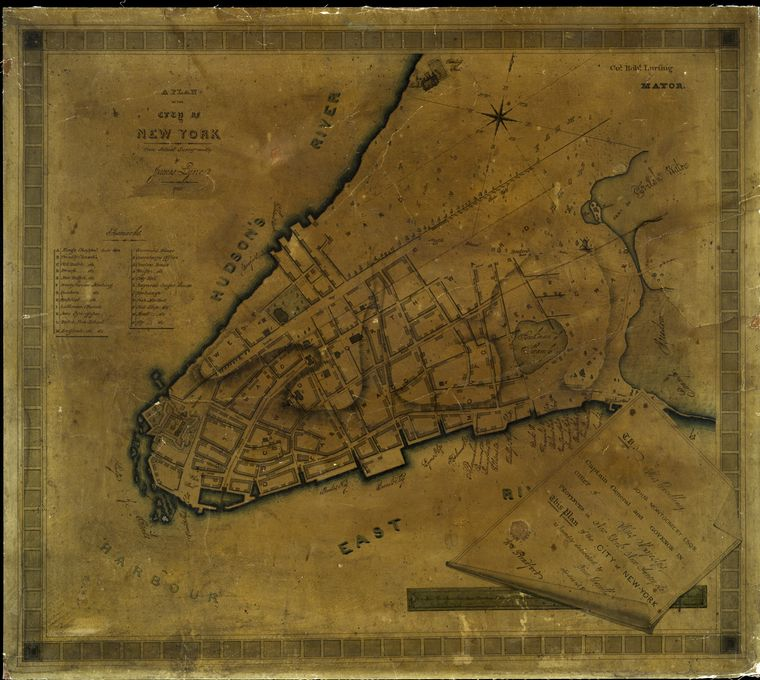 A plan of the city of New York from actual survey.