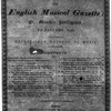 The English musical gazette, or, Monthly intelligencer No. 1