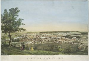 View of Dover N.H. taken from Garrison Hill.