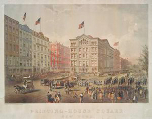 Printing-House Square, New Yor... Digital ID: 55037. New York Public Library