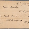Hugh Gaine receipted bill to Evert Bancker