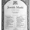 Jewish music journal Vol. 1 no. 1
