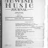 Jewish music journal Vol. 2 no. 1