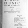 Jewish music journal Vol. 2 no. 4