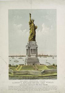 The great Bartholdi Statue, Liberty enlightening the world.