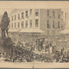The Boston celebration--the procession passing the Winthrop statue.--Drwn by George C. Graham.--[See page 654]