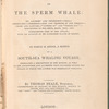 The natural history of the sperm whale title page
