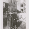 Opera sopranos Ellabelle Davis (left) and Helen Phillips, possibly at Davis's residence in New Rochelle, New York
