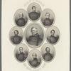 Generals of our army 1861. Lieut. Gen. Winfield Scott. Maj. Gen. Geo. B. McClellan. Maj. Gen. John A. Dix. Maj. Gen. Nathl. P. Banks. Brig. Gen. Nathl. Lyon. Maj. Gen. John E. Wool. Brig. Gen. Robt. Anderson. Maj. Gen. J.C. Fremont. Maj. Gen. Benj. Butler