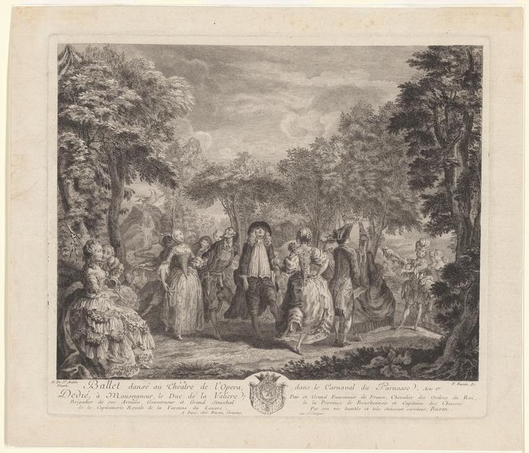 Fascinating Historical Picture of Gabriel Jacques de Saint-Aubin in 1751