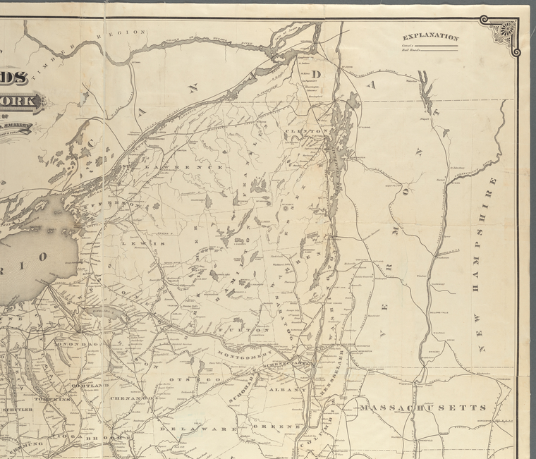 This is What Horatio Seymour and Map of the railroads of the State of New York Looked Like  in 1881