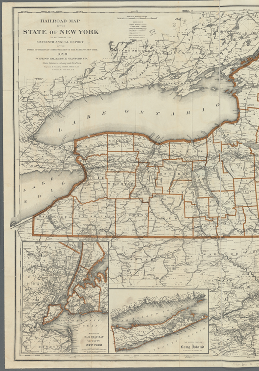 This is What New York and Railroad map of the State of New York Looked Like  in 1898