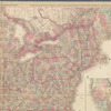 Lloyd's new map of the United States, the Canadas and New Brunswick: from the latest surveys showing every railroad & station finished to June 1862, and the Atlantic and Gulf coasts