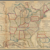 A new map of the United States, upon which are delineated its vast works of internal communication, routes across the continent &c: showing also Canada and the island of Cuba