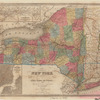 Map of the state of New York showing the location of boundaries of counties & townships, cities, towns and villages, the courses of rail roads, canals & stage roads