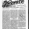 The Keynote Vol. XVIII, no. 10