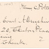 Potter, Henry Codman (1835-1908)